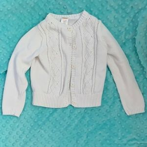 Size XS ( 3-4 ) Gymboree white button up sweater